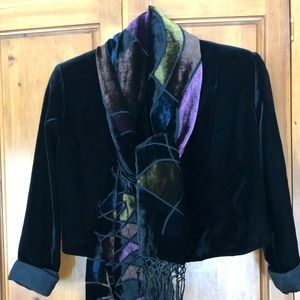 Scarf, Shawl stained glass design 100% silk